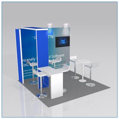 10x10 Trade Show Booth Rental Package 109 - LV Exhibit Rentals in Las Vegas