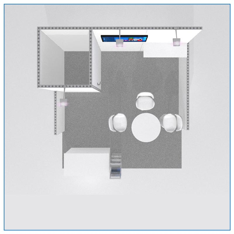 10x10 Trade Show Booth Rental Package 108A - Top-Down View - LV Exhibit Rentals in Las Vegas