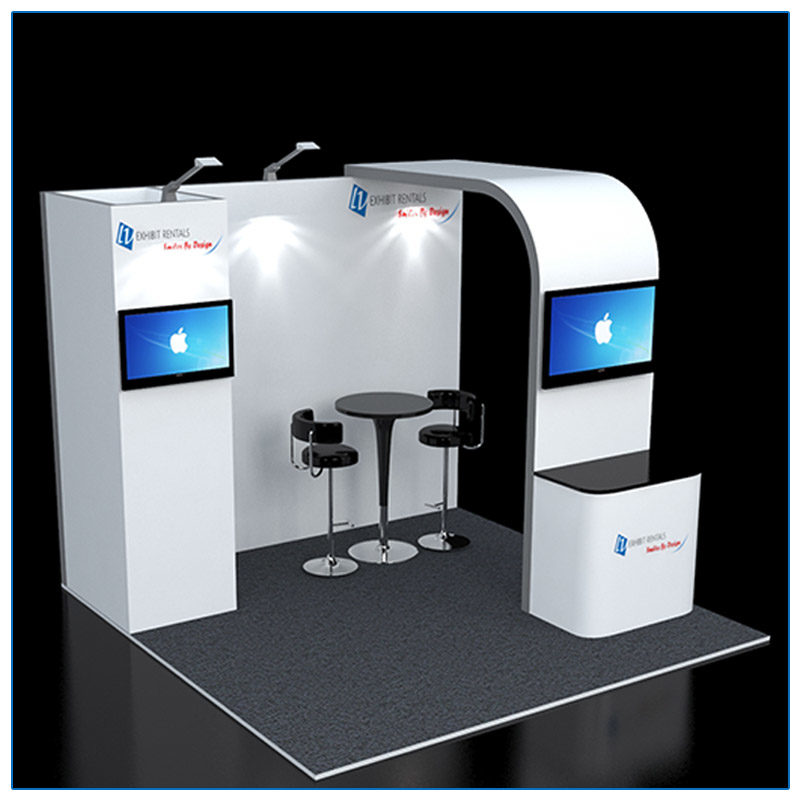 10x10 Trade Show Booth Rental Package 110 - LV Exhibit Rentals in Las Vegas