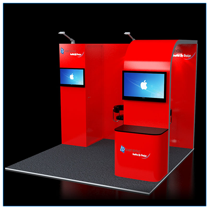 10x10 Trade Show Booth Rental Package 110 - Angle View - LV Exhibit Rentals in Las Vegas