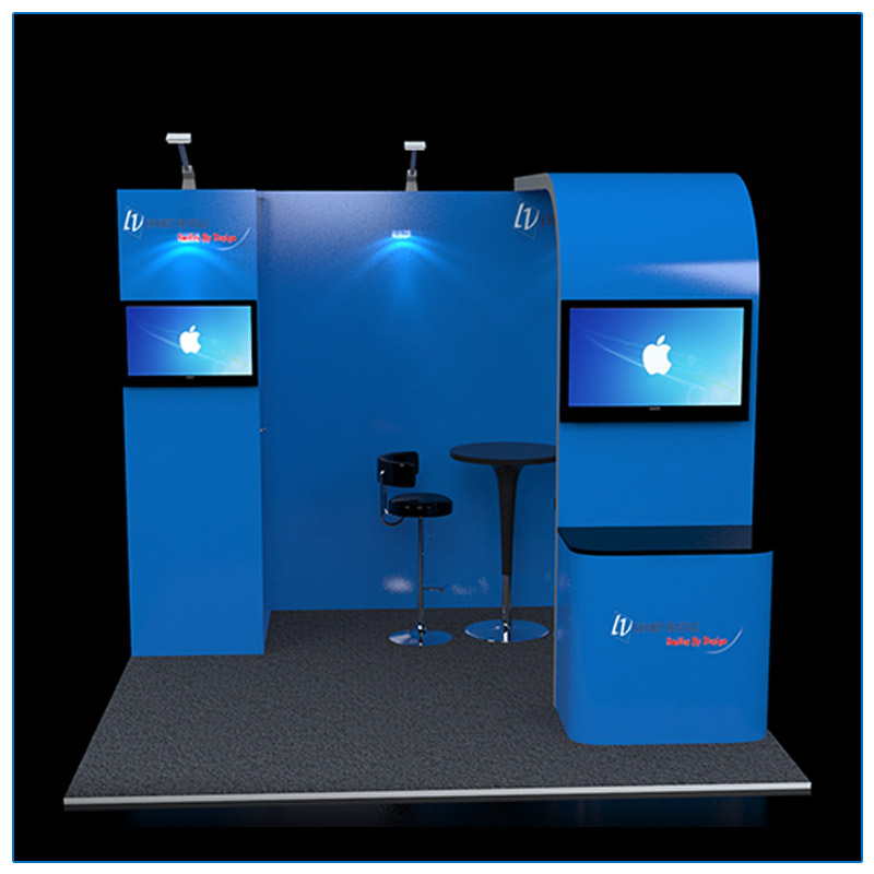 10x10 Trade Show Booth Rental Package 110 - Front View - LV Exhibit Rentals in Las Vegas