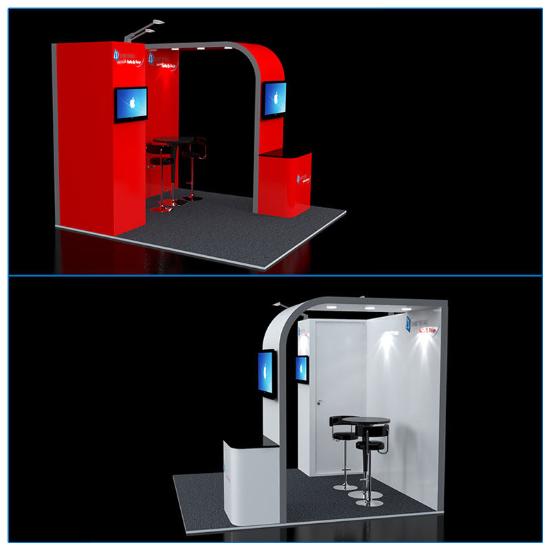 10x10 Trade Show Booth Rental Package 110 - Side View - LV Exhibit Rentals in Las Vegas