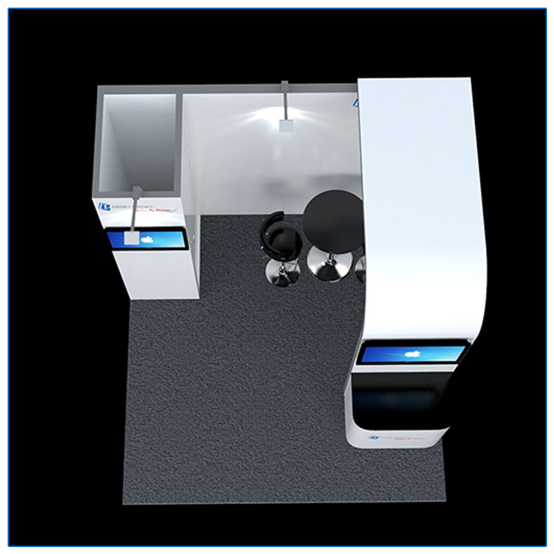 10x10 Trade Show Booth Rental Package 110 - Top-Down View - LV Exhibit Rentals in Las Vegas