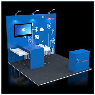 10x10 Trade Show Booth Rental Package 111 - LV Exhibit Rentals in Las Vegas