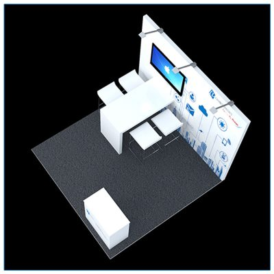 10x10 Trade Show Booth Rental Package 111 - Top-Down View - LV Exhibit Rentals in Las Vegas