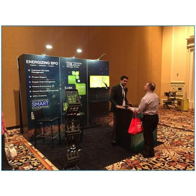 Technology Resource Group - 10x10 Trade Show Booth Rental Package 105 - LV Exhibit Rentals in Las Vegas