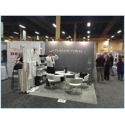 Turkish Towel - 10x10 Trade Show Booth Rental Package 105 - LV Exhibit Rentals in Las Vegas