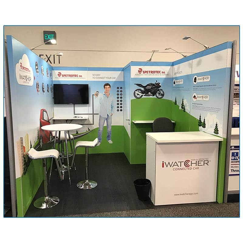 10x10 Spectrotec - Trade Show Booth Rental Package 122 - LV Exhibit Rentals in Las Vegas