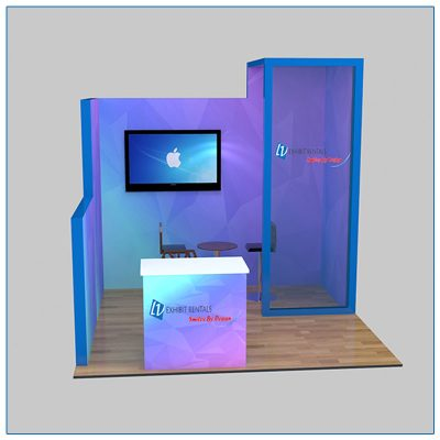10x10 Trade Show Booth Rental Package 112 - Front View - LV Exhibit Rentals in Las Vegas