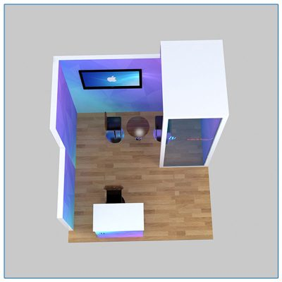 10x10 Trade Show Booth Rental Package 112 - Top-Down View - LV Exhibit Rentals in Las Vegas