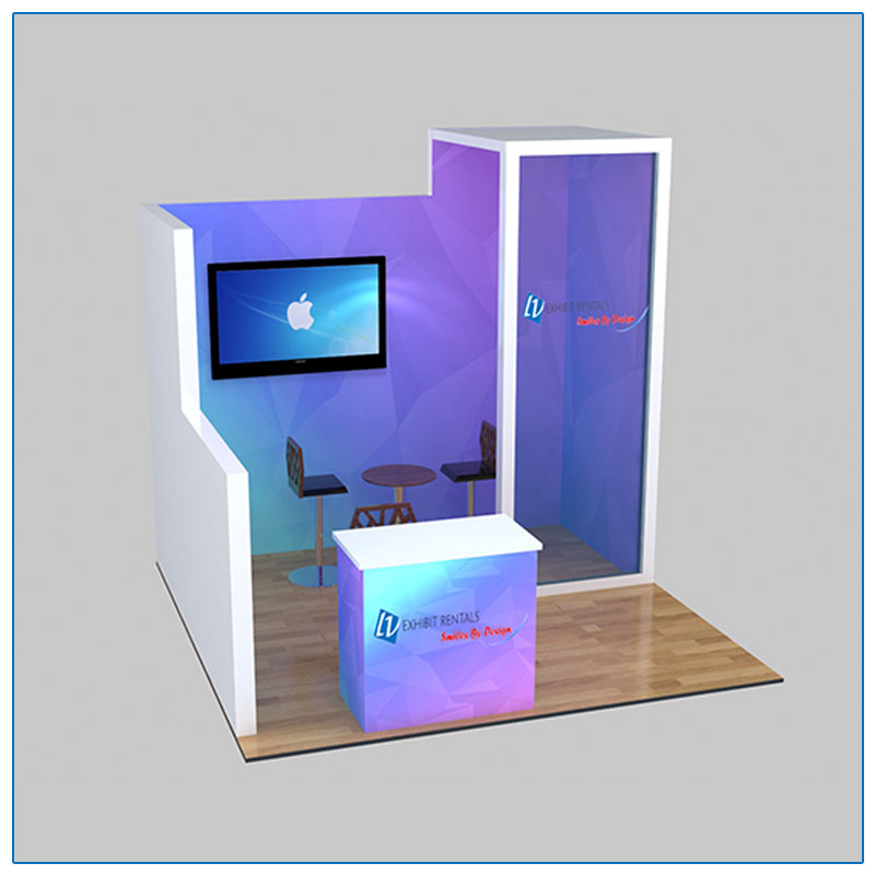 10x10 Trade Show Booth Rental Package 112 - LV Exhibit Rentals in Las Vegas