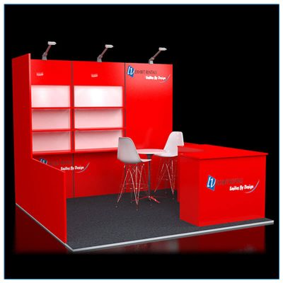 10x10 Trade Show Booth Rental Package 113 - LV Exhibit Rentals in Las Vegas