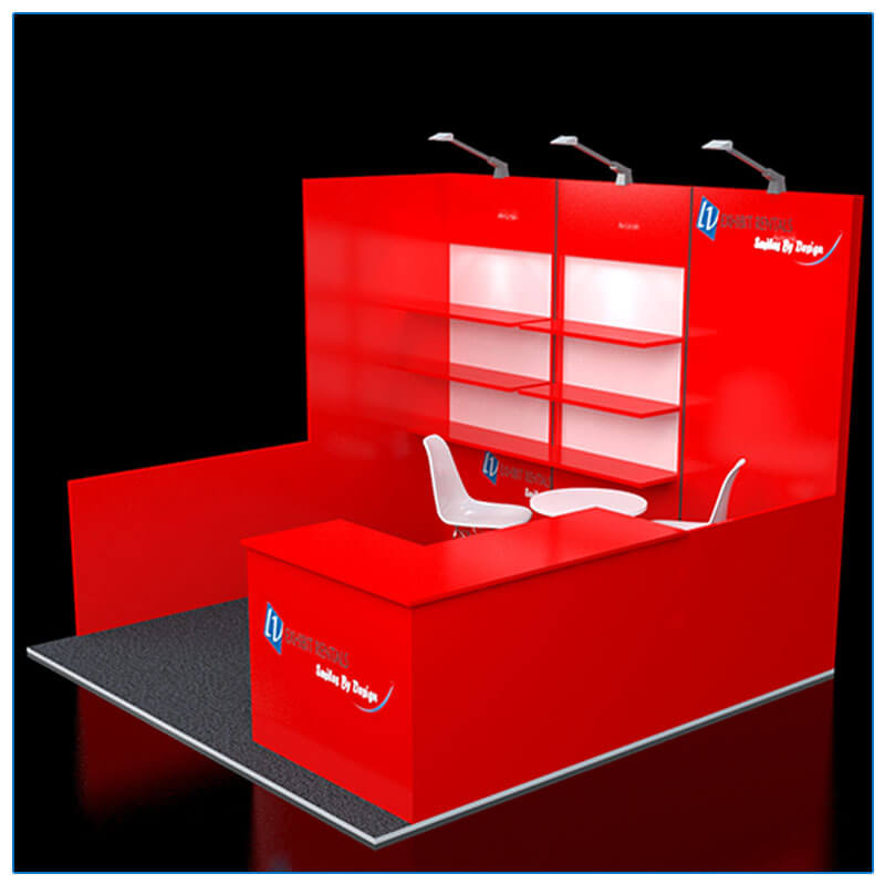 10x10 Trade Show Booth Rental Package 113 - Side View - LV Exhibit Rentals in Las Vegas
