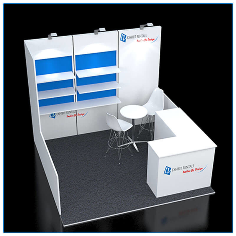 10x10 Trade Show Booth Rental Package 113 - Top-Down View - LV Exhibit Rentals in Las Vegas