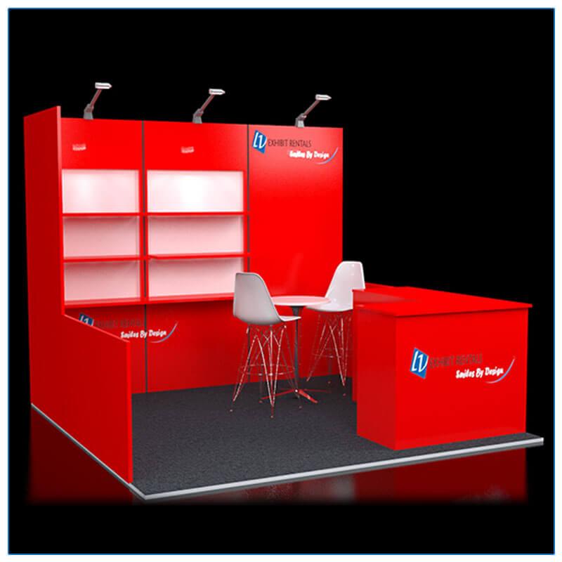 10x10 Trade Show Booth Rental Package 113 - LV Exhibit Rentals in Las Vegas