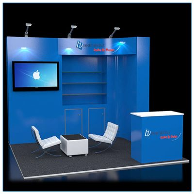 10x10 Trade Show Booth Rental Package 114 - LV Exhibit Rentals in Las Vegas