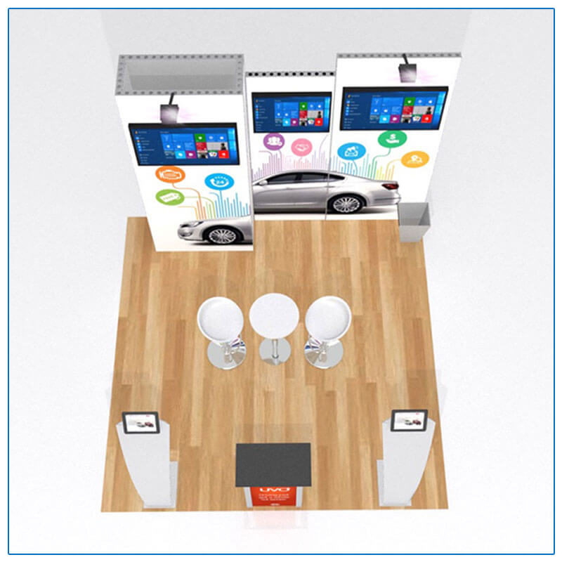 10x10 Trade Show Booth Rental Package 115 - Top-Down View - LV Exhibit Rentals in Las Vegas
