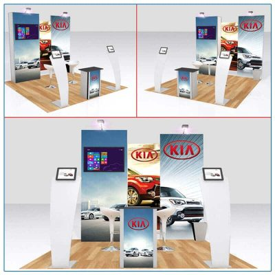 10x10 Trade Show Booth Rental Package 115 - Variation 1 - LV Exhibit Rentals in Las Vegas