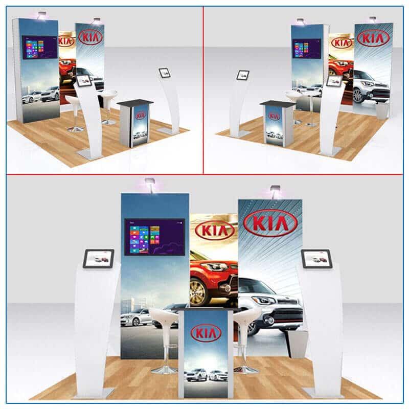 10x10 Trade Show Booth Rental Package 115 - Variation 1 - LV Exhibit Rentals in Las Vegas