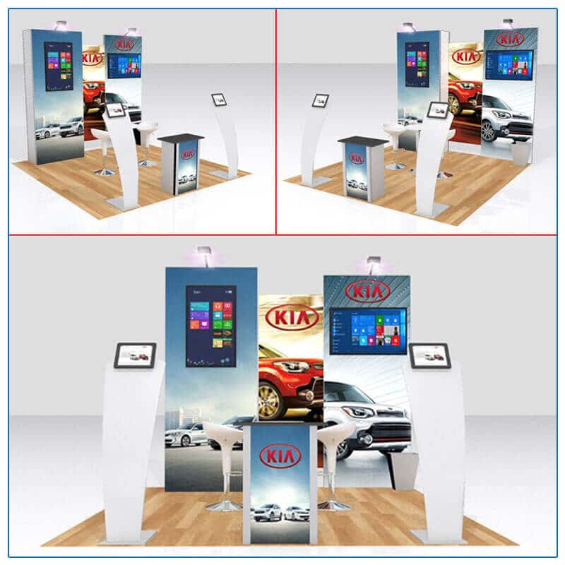 10x10 Trade Show Booth Rental Package 115 - Variation 2 - LV Exhibit Rentals in Las Vegas