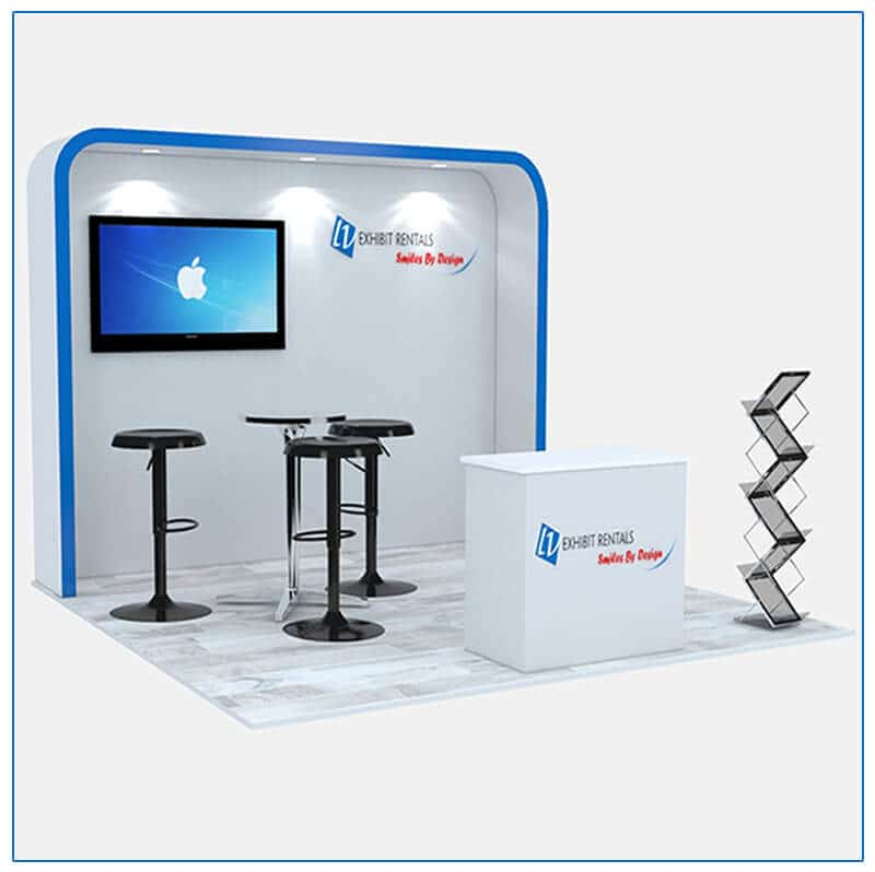 10x10 Trade Show Booth Rental Package 116 - LV Exhibit Rentals in Las Vegas