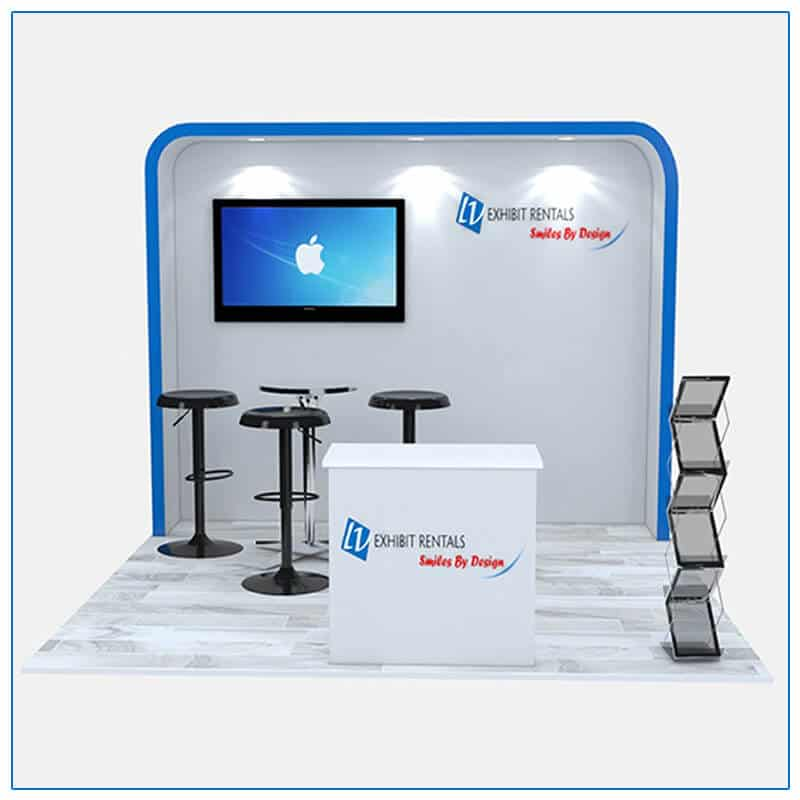 10x10 Trade Show Booth Rental Package 116 - Front View - LV Exhibit Rentals in Las Vegas