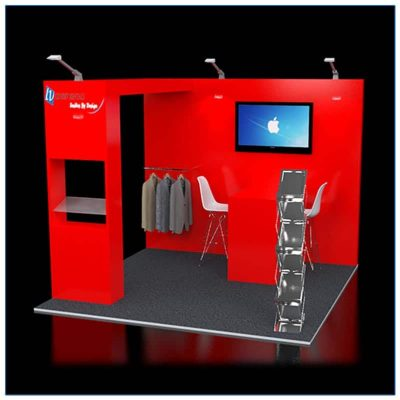 10x10 Trade Show Booth Rental Package 117 - Front View - LV Exhibit Rentals in Las Vegas