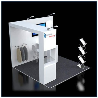 10x10 Trade Show Booth Rental Package 117 - LV Exhibit Rentals in Las Vegas