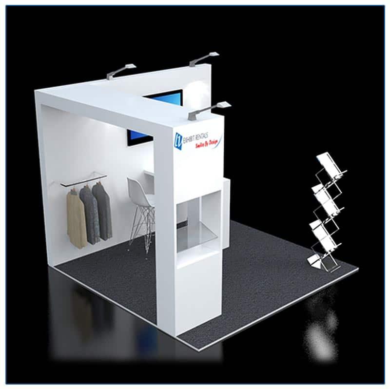 10x10 Trade Show Booth Rental Package 117 - LV Exhibit Rentals in Las Vegas