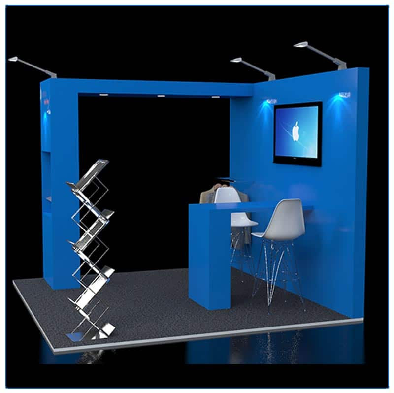 10x10 Trade Show Booth Rental Package 117 - Side View - LV Exhibit Rentals in Las Vegas