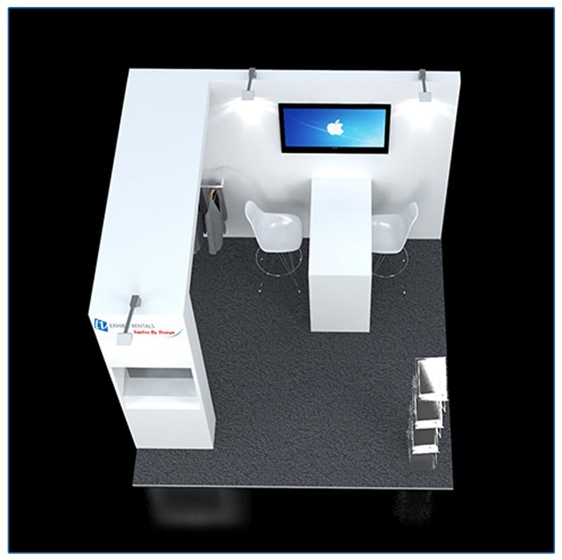 10x10 Trade Show Booth Rental Package 117 - Top-Down View - LV Exhibit Rentals in Las Vegas