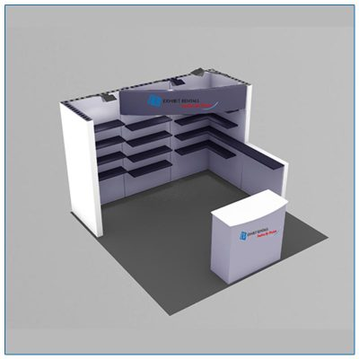 10x10 Trade Show Booth Rental Package 118 - LV Exhibit Rentals in Las Vegas