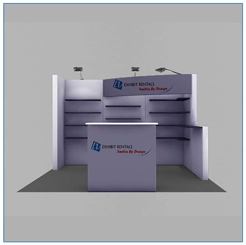 10x10 Trade Show Booth Rental Package 118 - Front View - LV Exhibit Rentals in Las Vegas