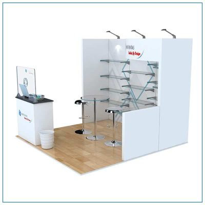 10x10 Trade Show Booth Rental Package 118 - Side View - LV Exhibit Rentals in Las Vegas