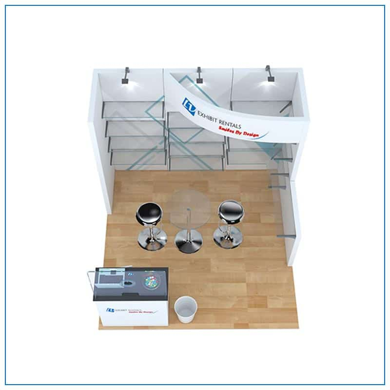 10x10 Trade Show Booth Rental Package 118 - Top-Down View - LV Exhibit Rentals in Las Vegas