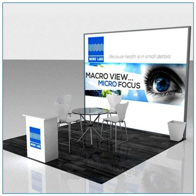 10x10 Trade Show Booth Rental Package 119 - Lightbox Display - Angle View - LV Exhibit Rentals in Las Vegas