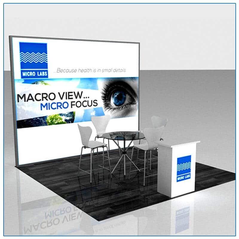 10x10 Trade Show Booth Rental Package 119 - Lightbox Display - LV Exhibit Rentals in Las Vegas
