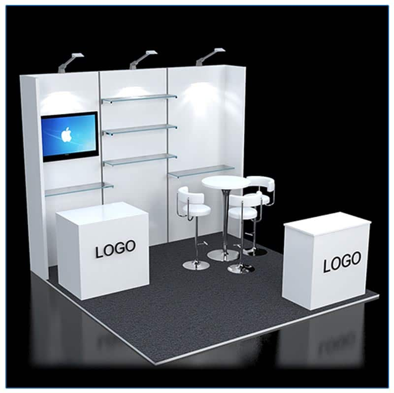 10x10 Trade Show Booth Rental Package 120 - Variation - LV Exhibit Rentals in Las Vegas