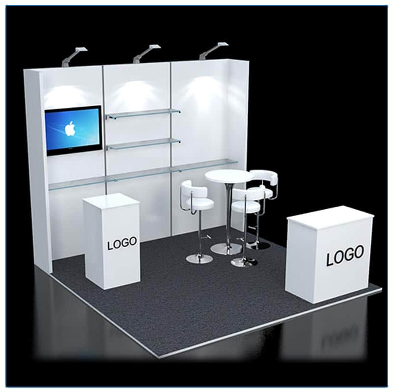 10×10 Booth Rental – Package 120 | LV Exhibit Rentals