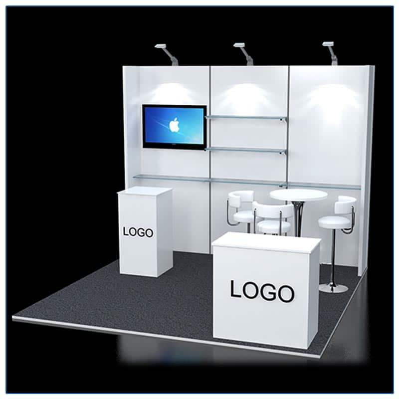 10x10 Trade Show Booth Rental Package 120 - LV Exhibit Rentals in Las Vegas