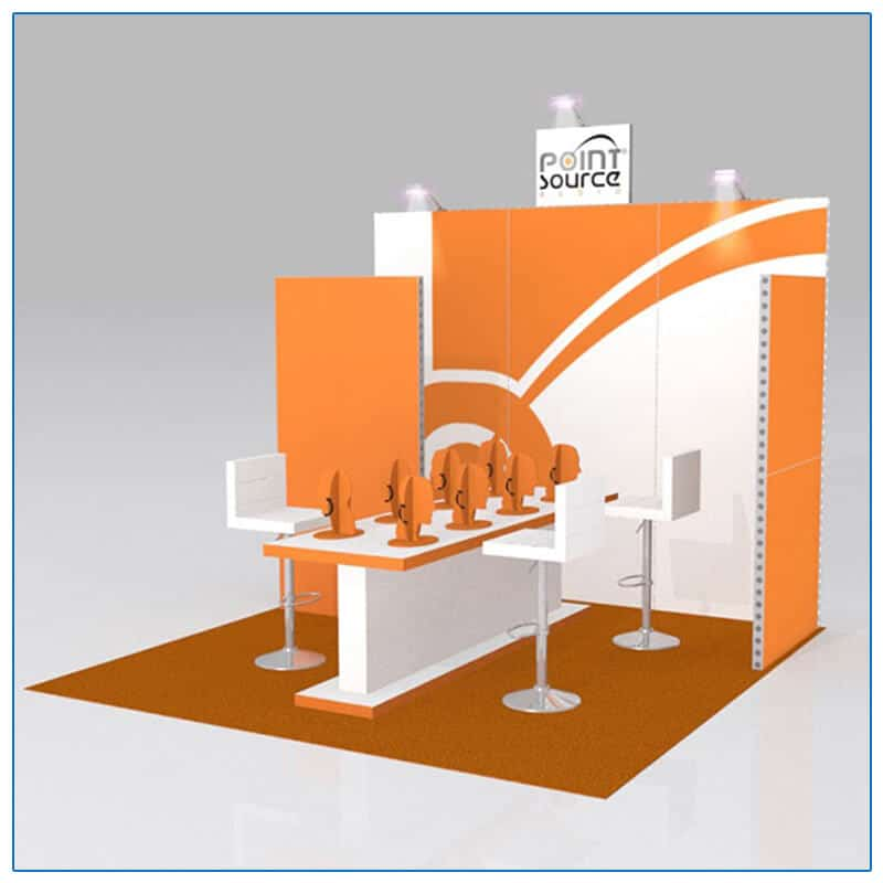 10x10 Trade Show Booth Rental Package 121 - Angle View - LV Exhibit Rentals in Las Vegas