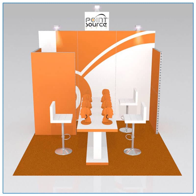 10x10 Trade Show Booth Rental Package 121 - Front View - LV Exhibit Rentals in Las Vegas