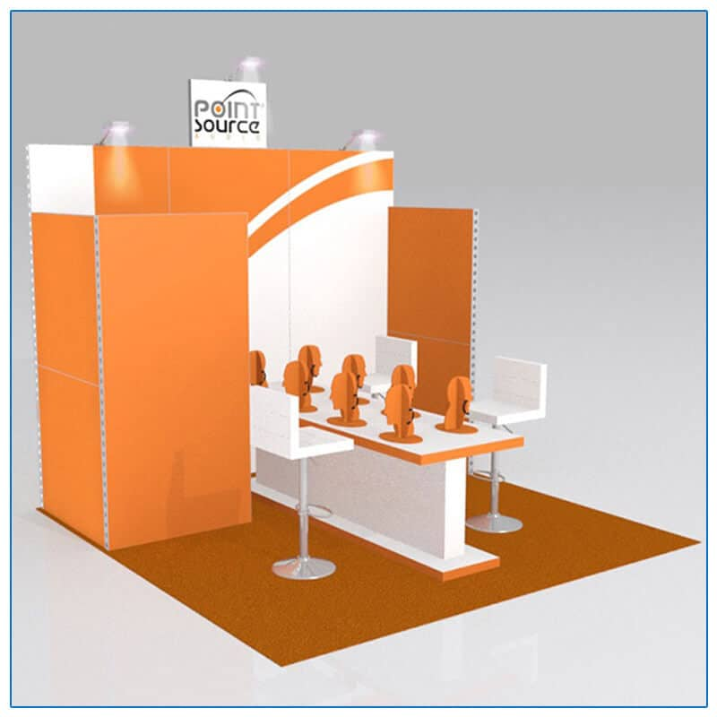 10x10 Trade Show Booth Rental Package 121 - LV Exhibit Rentals in Las Vegas