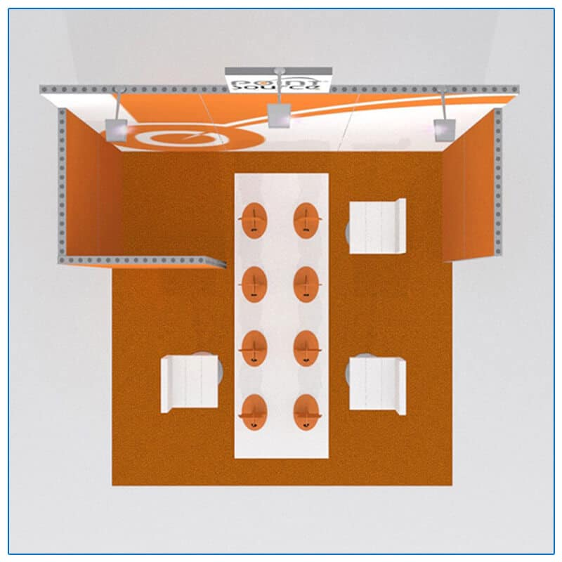 10x10 Trade Show Booth Rental Package 121 - Top-Down View - LV Exhibit Rentals in Las Vegas