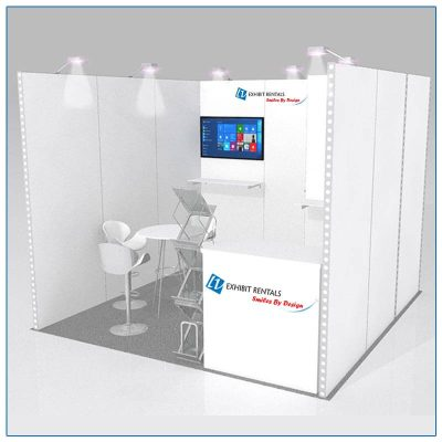 10x10 Trade Show Booth Rental Package 122 - LV Exhibit Rentals in Las Vegas