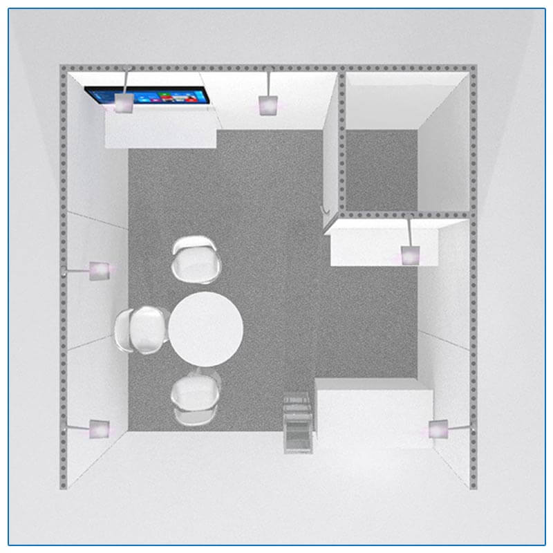 10x10 Trade Show Booth Rental Package 122 - Top-Down View - LV Exhibit Rentals in Las Vegas