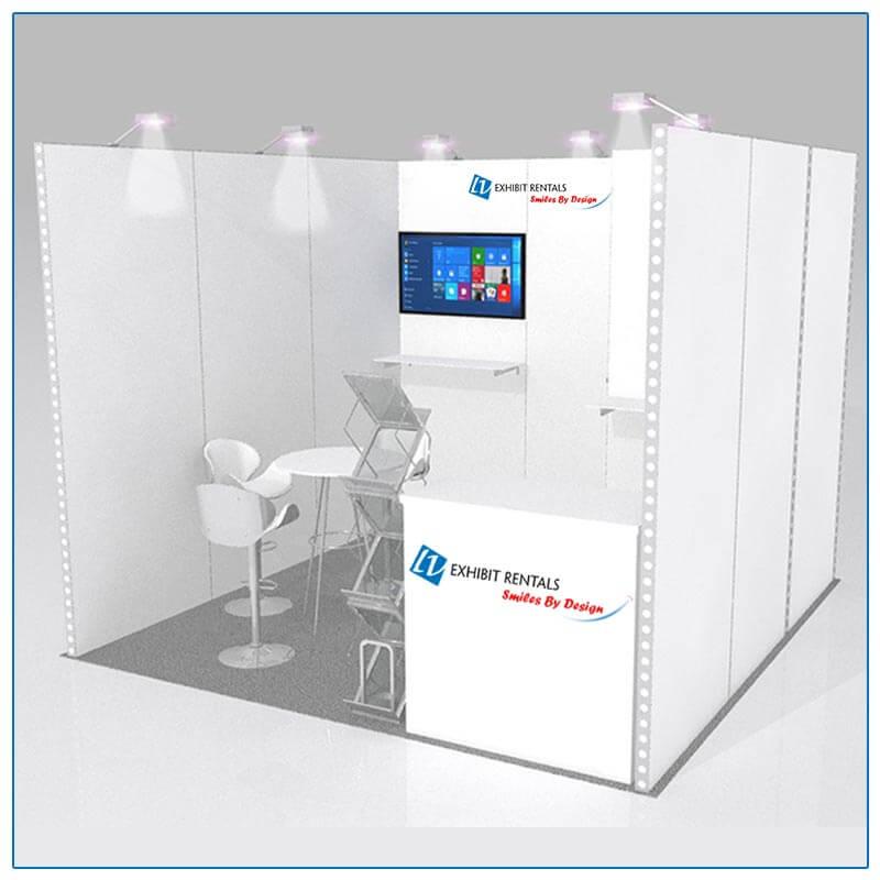 10x10 Trade Show Booth Rental Package 122 - LV Exhibit Rentals in Las Vegas