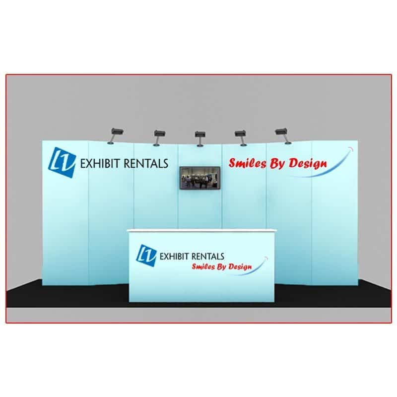 10x20 Trade Show Booth Rental Package 200 - Front View - LV Exhibit Rentals in Las Vegas