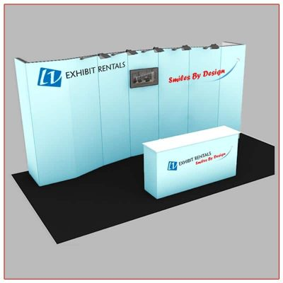 10x20 Trade Show Booth Rental Package 200 - LV Exhibit Rentals in Las Vegas