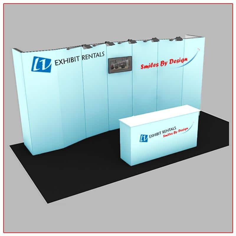 10x20 Trade Show Booth Rental Package 200 - LV Exhibit Rentals in Las Vegas